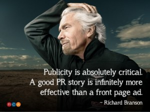 Richard Branson on pr